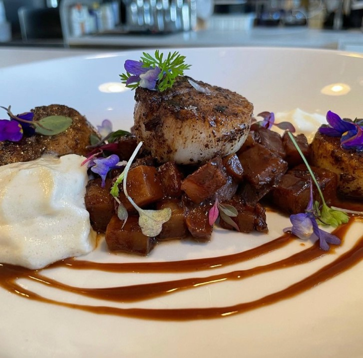 Delicious plate of food from Chocolate Lab Restaurant: One of nine great placed for chocolate lovers in Denver.