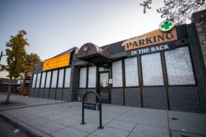The exterior of Colorado Harvest Company, a retailer that carries THC chocolate in Denver.