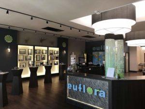 A shot of the interior of Euflora Aspen, a Colorado-based cannabis dispensary.